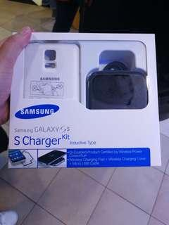 Samsung Galaxy S5 S Charger Kit (Inductive Type) Black Color
