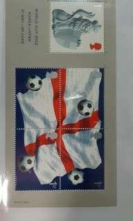 英國郵票 2002年世界盃紀念小全張