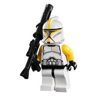 Lego Star Wars Clone Trooper Commander with Long Blaster - Free Shipping
