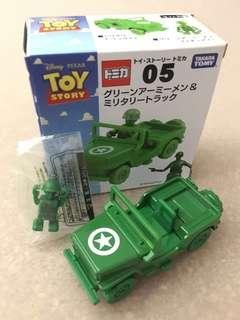 Tomica Toy Story Green Army Men & Military Truck Disney Pixar Takara Tomy Car 05