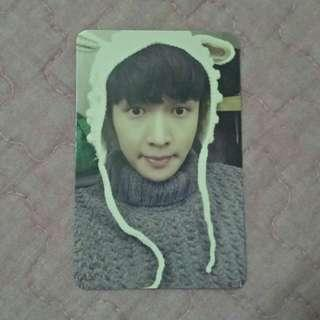 EXO Lay Sing For You white photocard