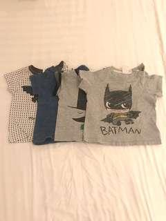 COTTON ON and H&M baby tshirts (set of 4)