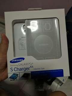 Samsung S4 S Charger kit (Inductive Type) (White Colour)