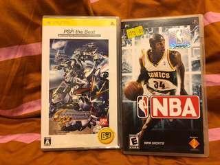 PSP Game NBA & 機戰 GP 60蚊2隻