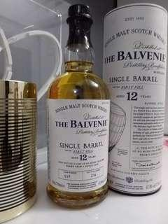 Balvenie 12 YO single malt single cask 1st fill barrel whisky