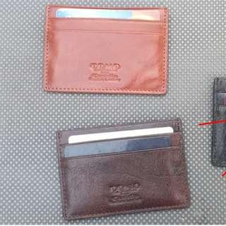 Slim leather cardholder