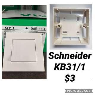 Schneider Vivace KB31/1 One Gang One Way Switch.