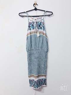 Floral halter mermaid dress