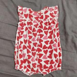 Carter's Heart Onesie