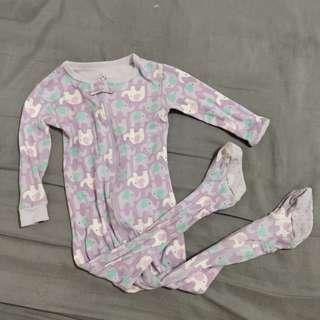 Purple elephant sleepsuit onesie pajama