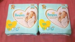 *NEW* Pampers New Born Size Diapers 5kg x 2 Bags /84pcs - $140 Takes All !!