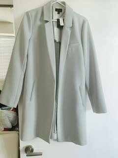 Topshop Teal Spring Coat Size 8
