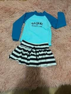 Ogival swimsuit two piece 1-2year old