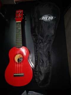 Red Ukulele with Bag