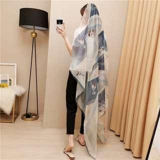 🔥Buy4Get1Free🔥Premium Full Silk Scarf Travel Holiday Shawl By Free Courier Delivery Only