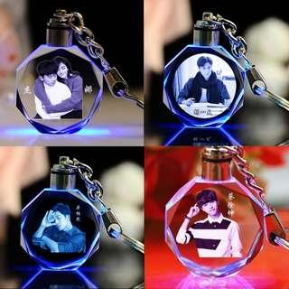 🚚 Customised key chain with light