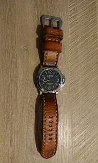 24mm TYME leather watch strap