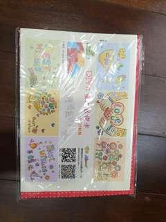 DIY Colouring Thank You, Best Wishes Cards