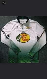 美國釣魚用品牌子Bass Pro Shop 釣魚長袖衫   Bass Pro Shops Logo Fishing Jersey