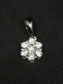 18KW 6圍1 鑽石 吊咀