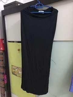 SODA Long Black Skirt