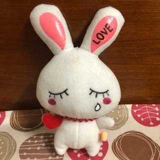 🚚 二手 哭泣 流淚 兔子 白兔 韓國風 娃娃 玩偶 玩具