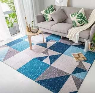 120x160cm Blue Area Rug Carpet