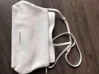 Burberry white leather bag
