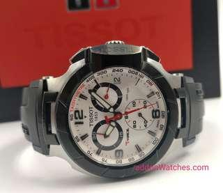 Tissot T-Race White Black Chronograph Quartz Watch