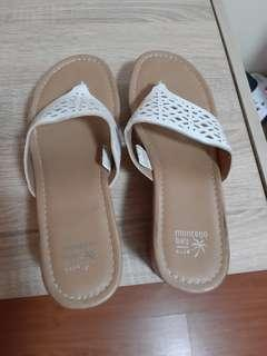 Payless White Wedge Sandals