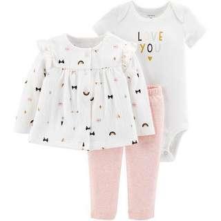 Carter's baby girls 3-pc. Layette Set