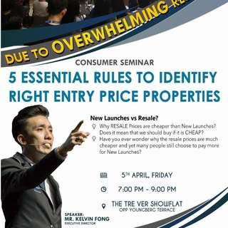 AN EXCLUSIVE Consumer Talk by PropNex Executive Director Kelvin Fong NOT TO BE MISSED