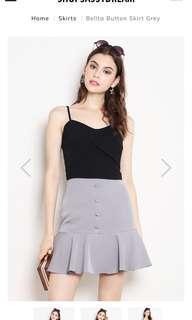 Belita Button Skirt Grey