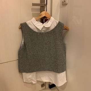 Grey knit with shirt