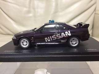 KyOSHO 1:43 NISSAN Skyline GT-R (BCNR33) Fuji Speedway Pace Car (No.03343PC)