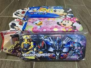Pencil Case Transformers Mickey Mouse Minnie