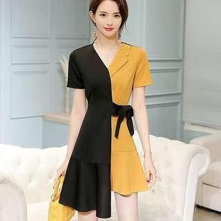 Korean 2 Tone Dress