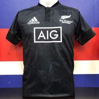 baa2542dbe8 New Zealand All- black Rugby Jersey seven-player