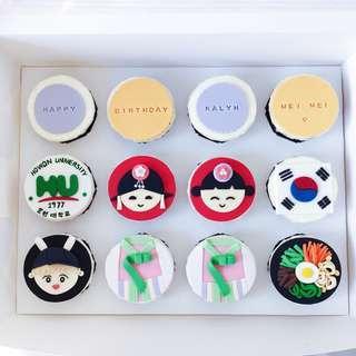 Korean Theme Cupcake