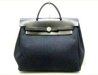 Authentic Hermes Navy Black Colour Her Bag