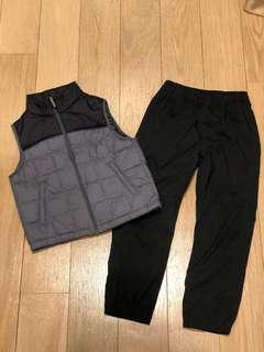 Winter coldwear clothes, vest, windproof pants - boys / kids / children