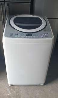 Used Toshiba DD inverter washer 14.0kg washing machine mesin basuh fully automatic stainless steel drum in good condition