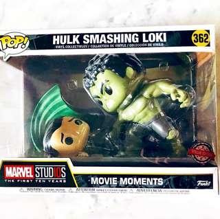 Funko Pop Special Edition Hulk Smashing Loki #362 Marvel Studios The First Ten Years Movie Moments The Avengers