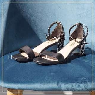*NWOB* Belle Block Heel Sandal with Polka Dots Detail Women Size 38 (fits US 7.5)