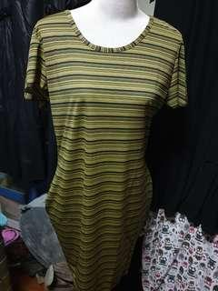 Dress in stripe fits plus size