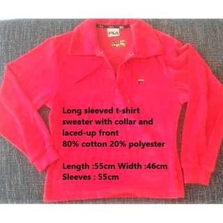 Red FILA sweater