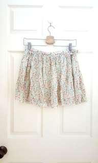 New! Designer Brand Floral Flair skirt