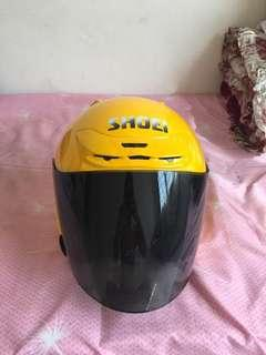 Shoei jf2 jforce 2 repaint yellow