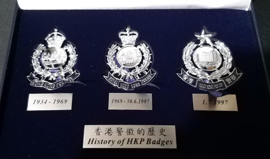 香港警察徽章(不同年代)