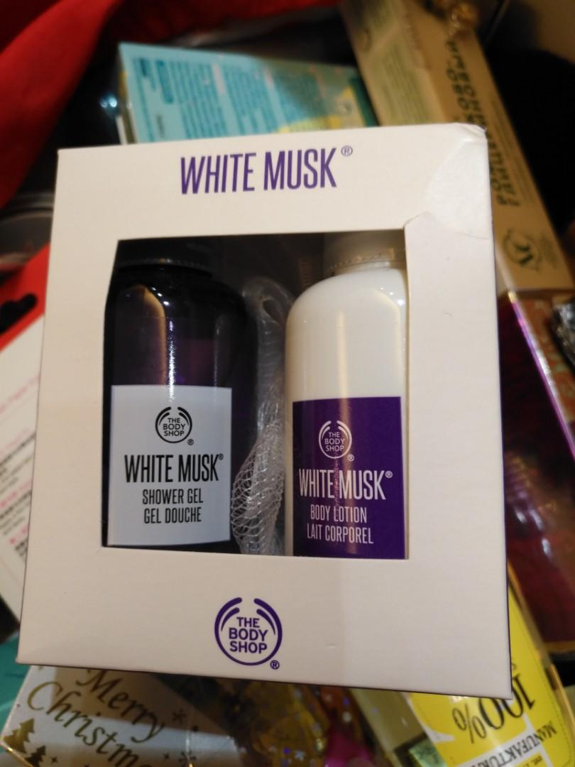 (全新) the body shop white musk  shower gel and body lotion